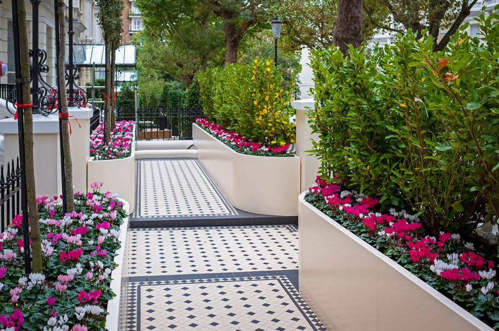 Bespoke Aluminium Planters for Private Garden