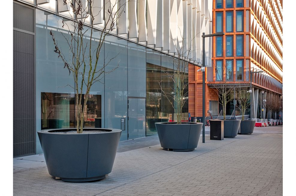 Bespoke conical planters for trees