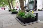 Bespoke Steel Planters At Intercontinental Hotel London