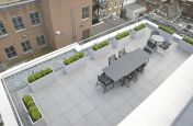 Lower Terrace Zintec Steel Planters Powder Coated Planters
