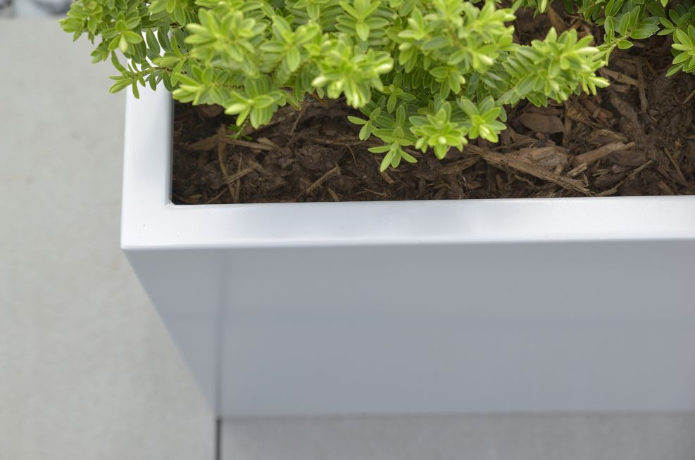 Zintec Steel  RAL 9006 Powder Coated Planters