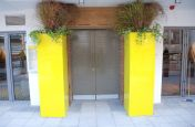 Gloss Finish Powder Coated Pantone 605 Planters