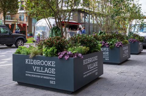 Large branded planters in London