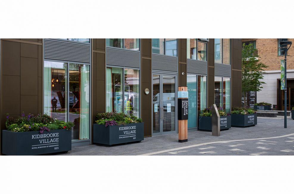 Custom branded trough planters