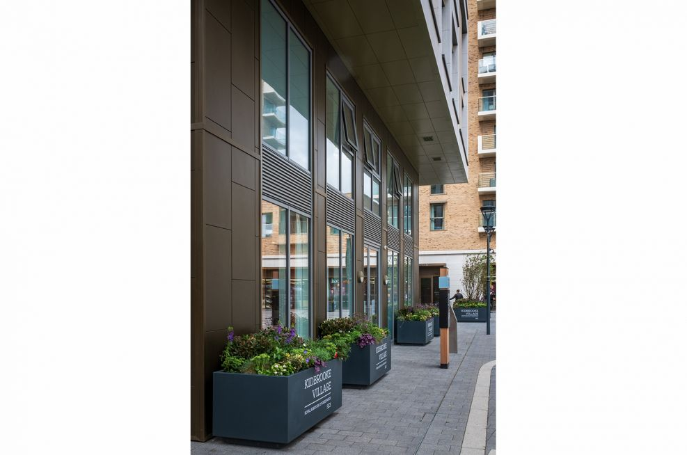 Branded planters for commercial spaces