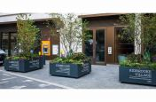 Bespoke movable planters with branding