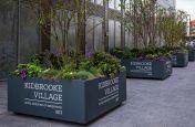 Large steel tree planters