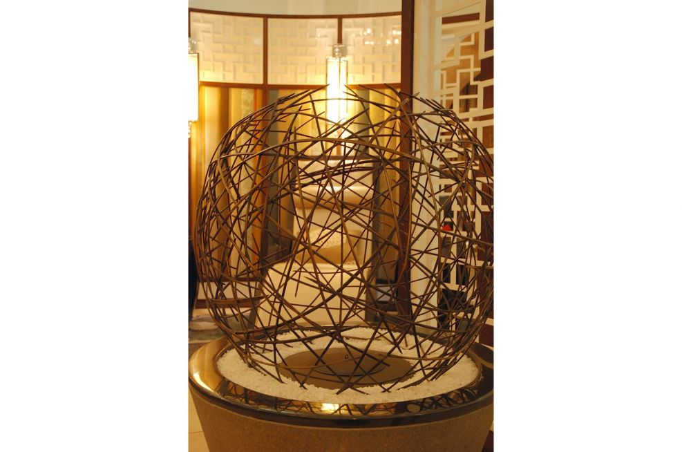 Woven Bronze Latice Sculpture Commissioned By The Langham Hotel London