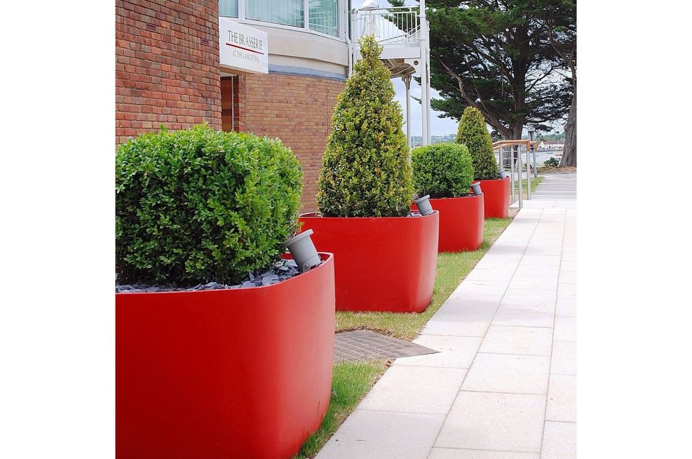Coral Red Custom Colour Boulevard Planters