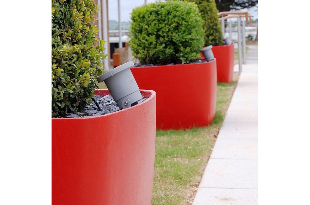 Custom Coloured Boulevard Planters In Red