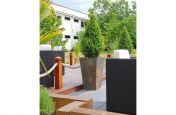 Decked Areas Featuring The Slate Tall Taper Planters