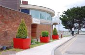RAL 3016 Coral Red Powder Coated OSAKA Boulevard Planters