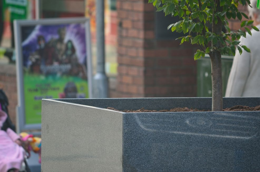 Granite Stone Planters With 25mm Thick Stone