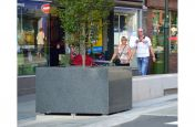 Parallelogram tree planters Made From Granite