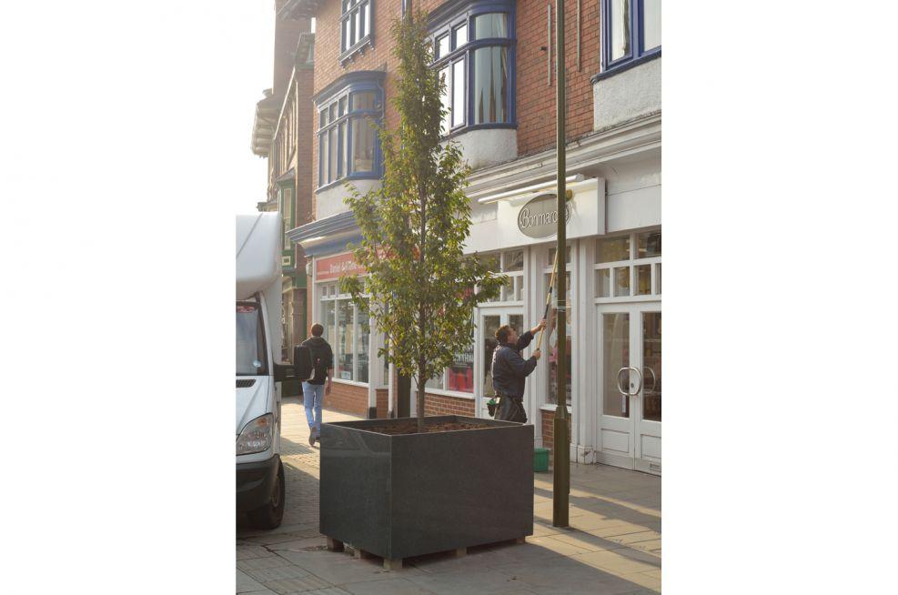 Town Centre Bespoke Granite Tree Planters