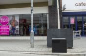 Bespoke Granite Tree Planters in Town Centre