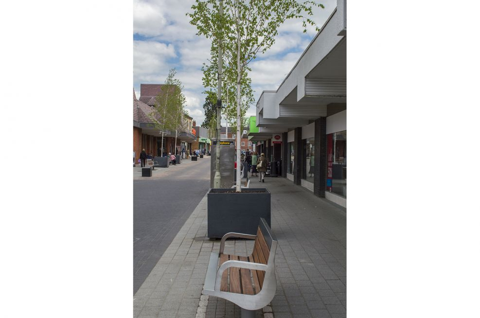 Oadby Tree Planters In the Town Centre