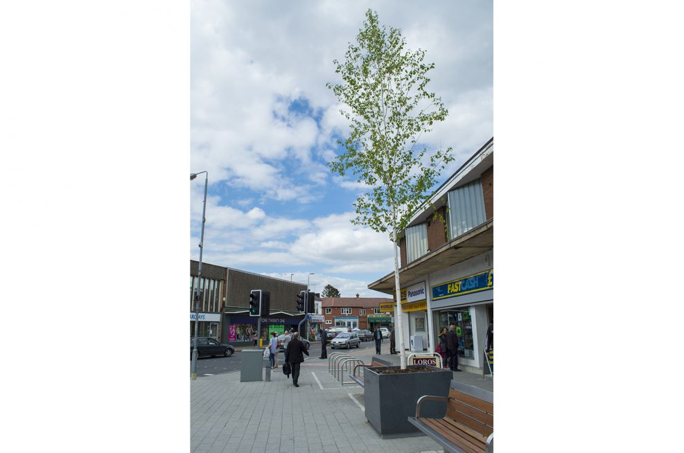 Town Centre Granite Tree Planters