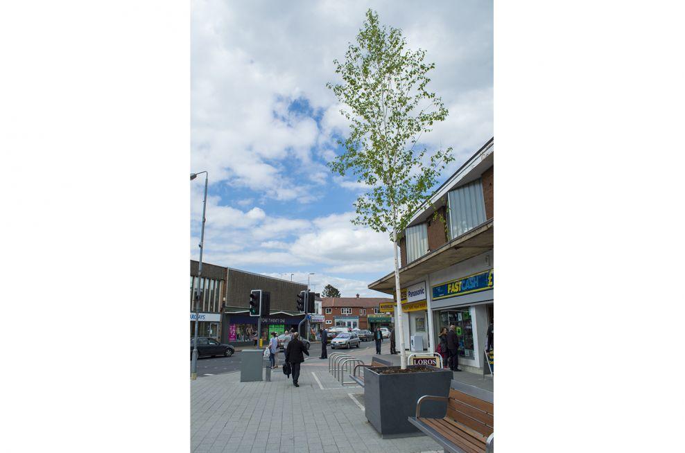 Town Centre Granite Tree Planters