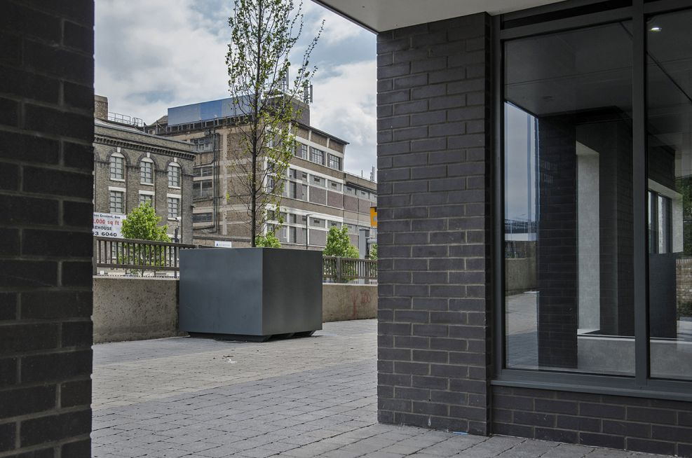 Steel Tree Planters Around Residential Properties In London