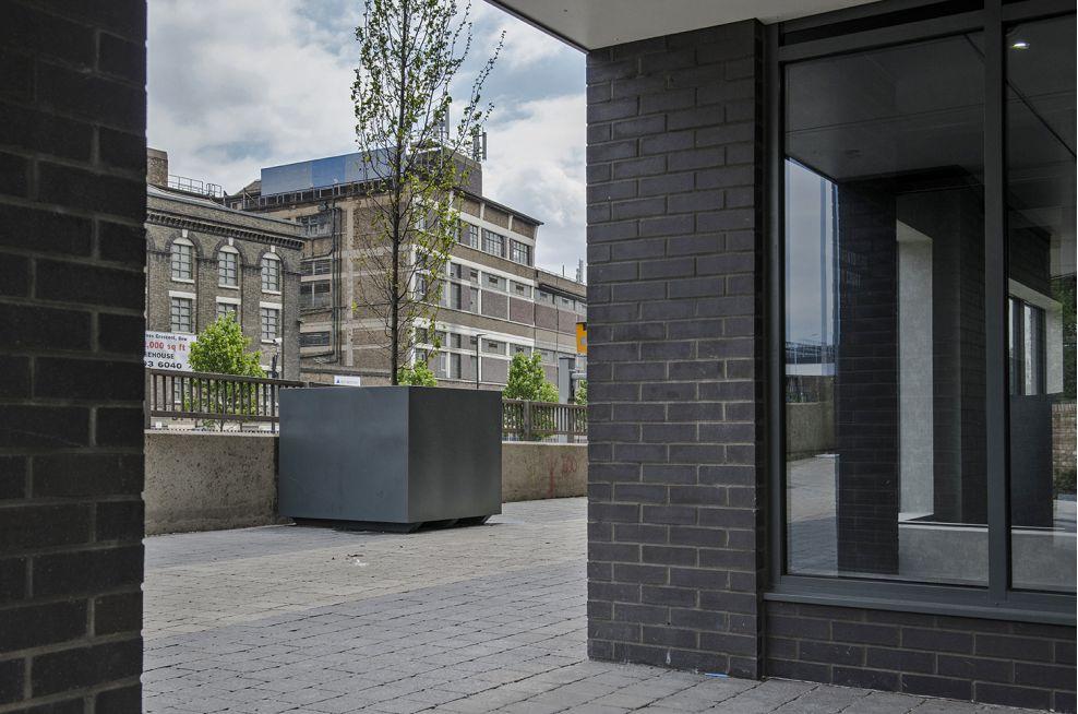 Steel Tree Planters Around Residential Properties In London