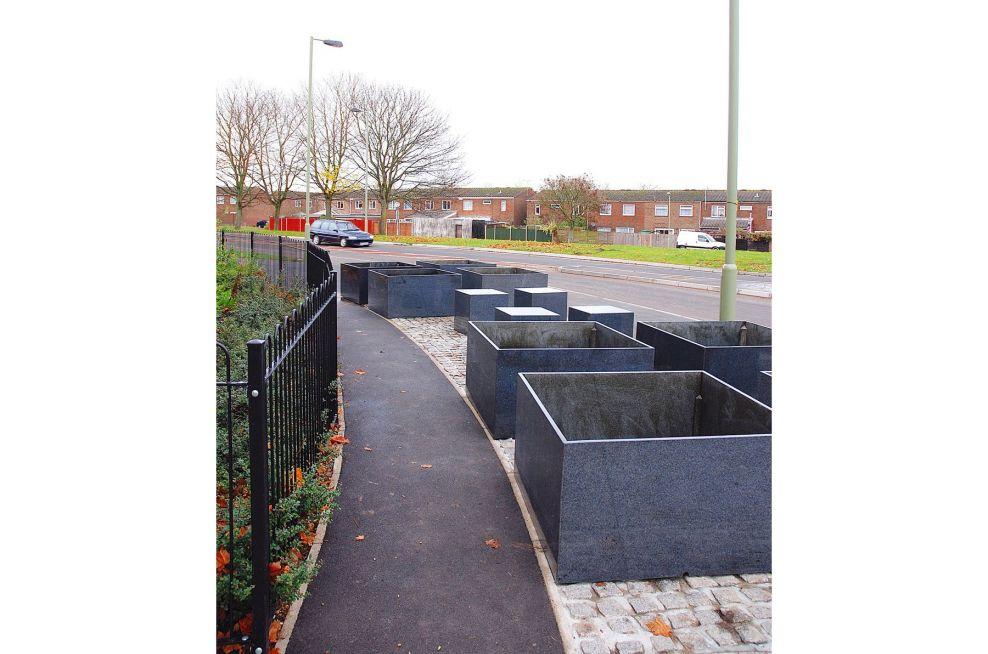 Linden Homes Granite Bespoke Planters in Basingstoke