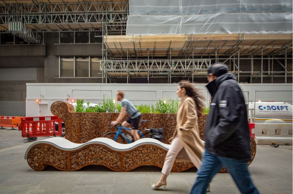 Corten planter for public spaces
