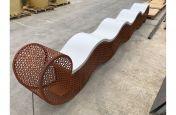 Custom Corten Public Bench