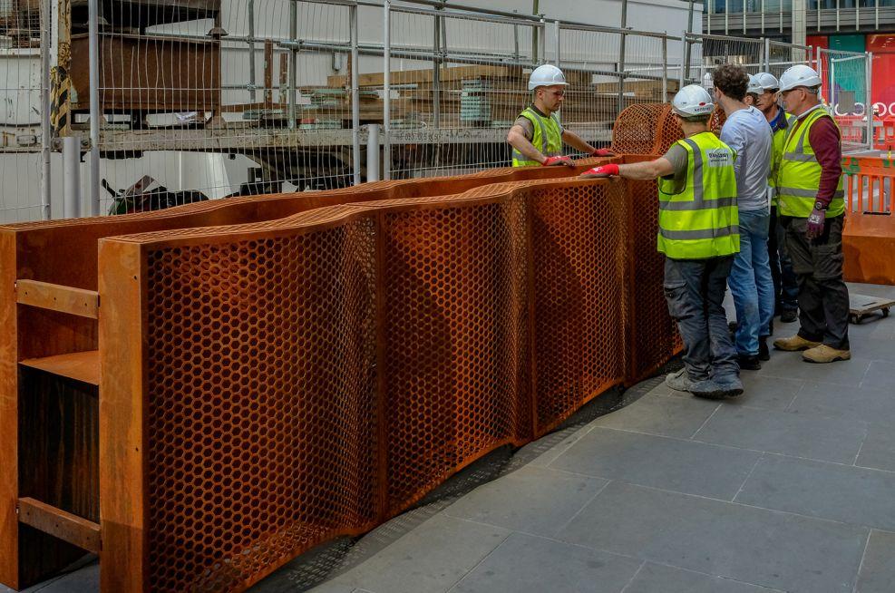 Complex Design Corten Steel Planter