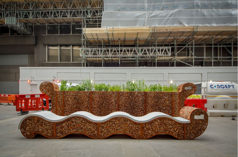 Custom Made Corten Wavy Planter