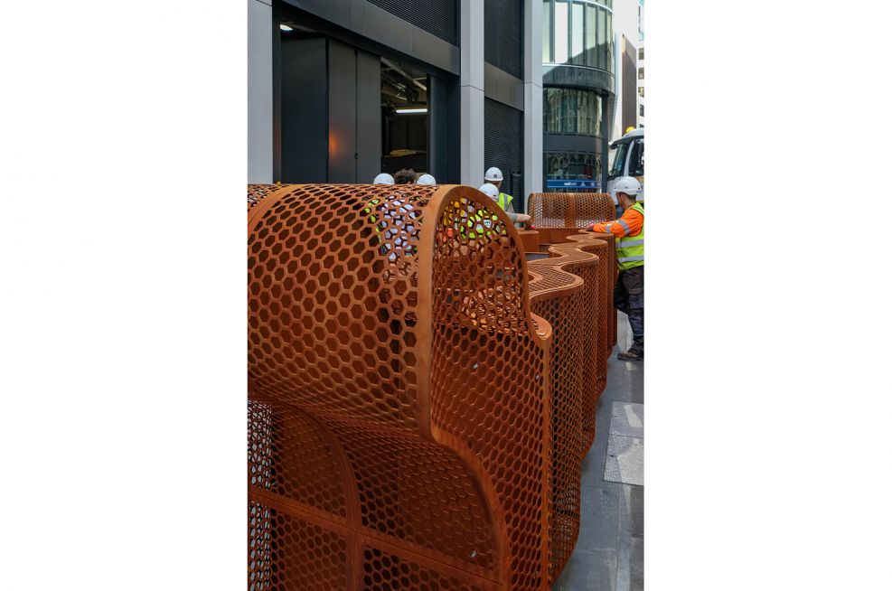 Custom Design Corten Steel Public Spaces Planter
