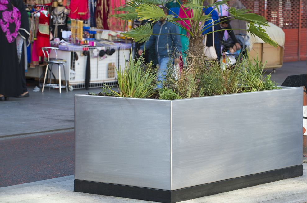 Bespoke Steel Streetscape Planters in London