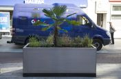 Polyester powder Coated planters Coated To RAL 9017
