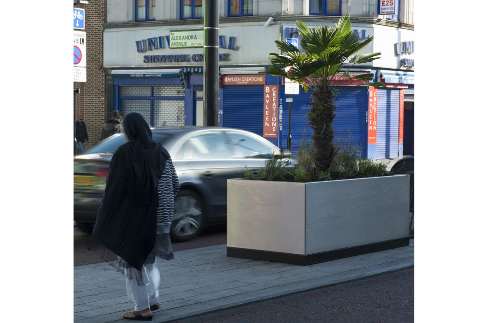 Stainless Steel Planters Southall Broadway