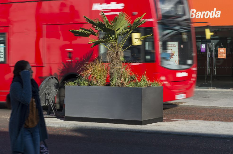 Streetscape Planters Made From Stainless Steel