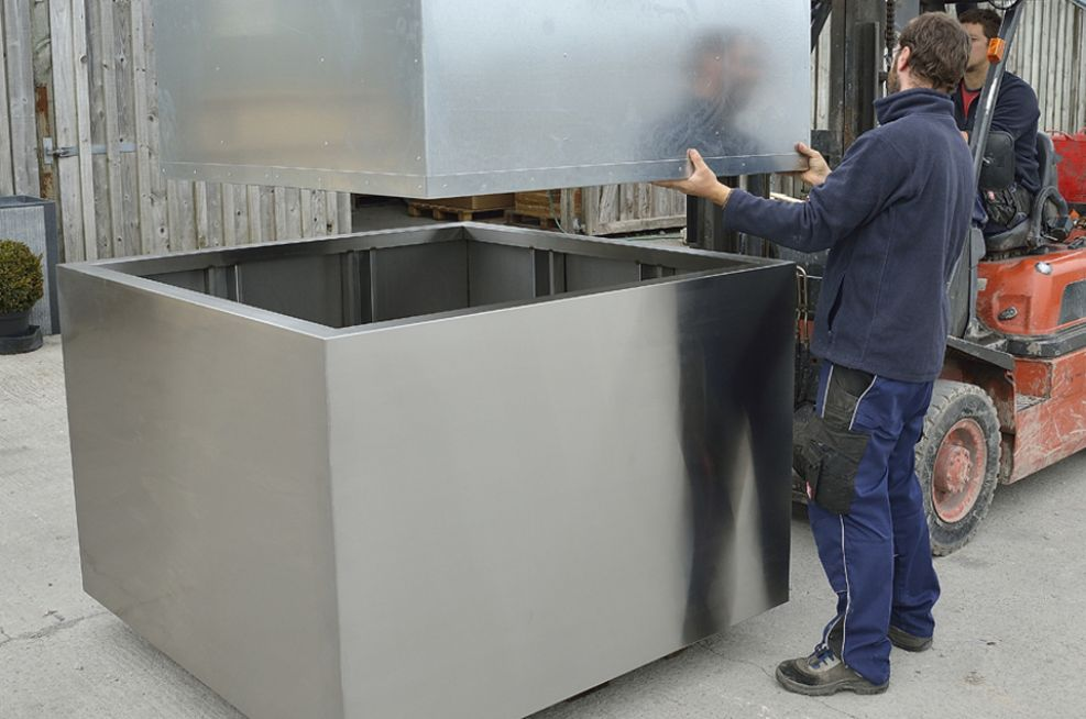 Stainless Steel Tree planters For London Borough Of Havering