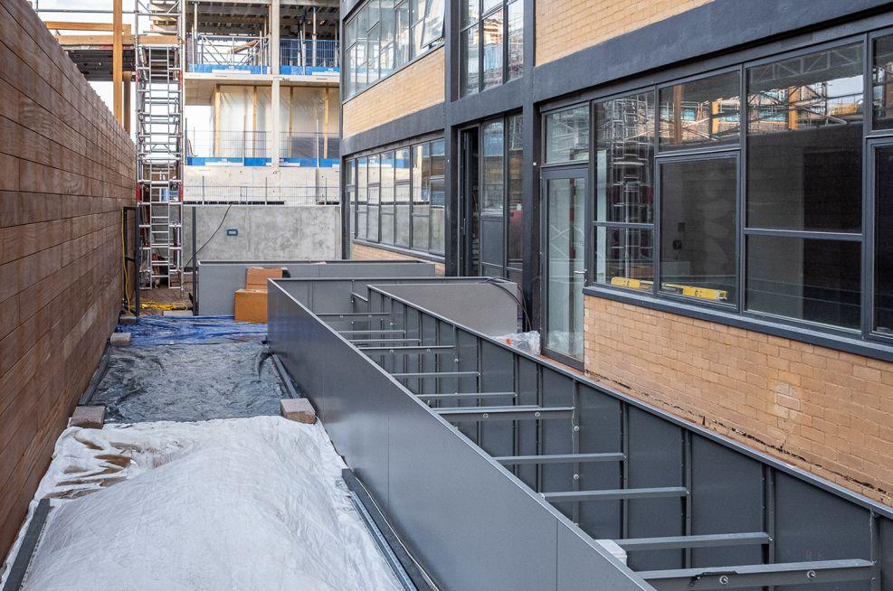 Bespoke zintec steel planters