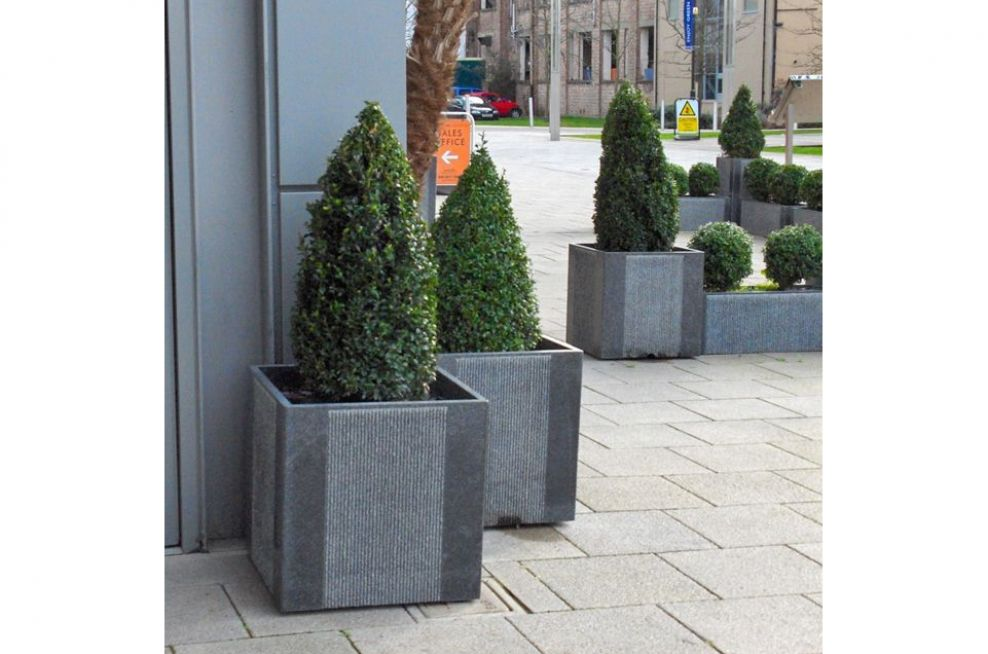 Cube 600 Planters Made From Granite