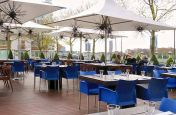 Outdoor Eating Area at The Marco Polo Restaurant, London