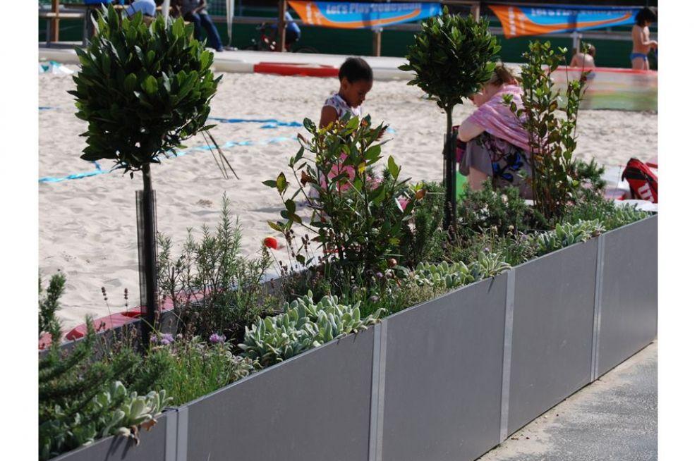 Beach Volleyball Court Fibre Reinforced Cement Planters