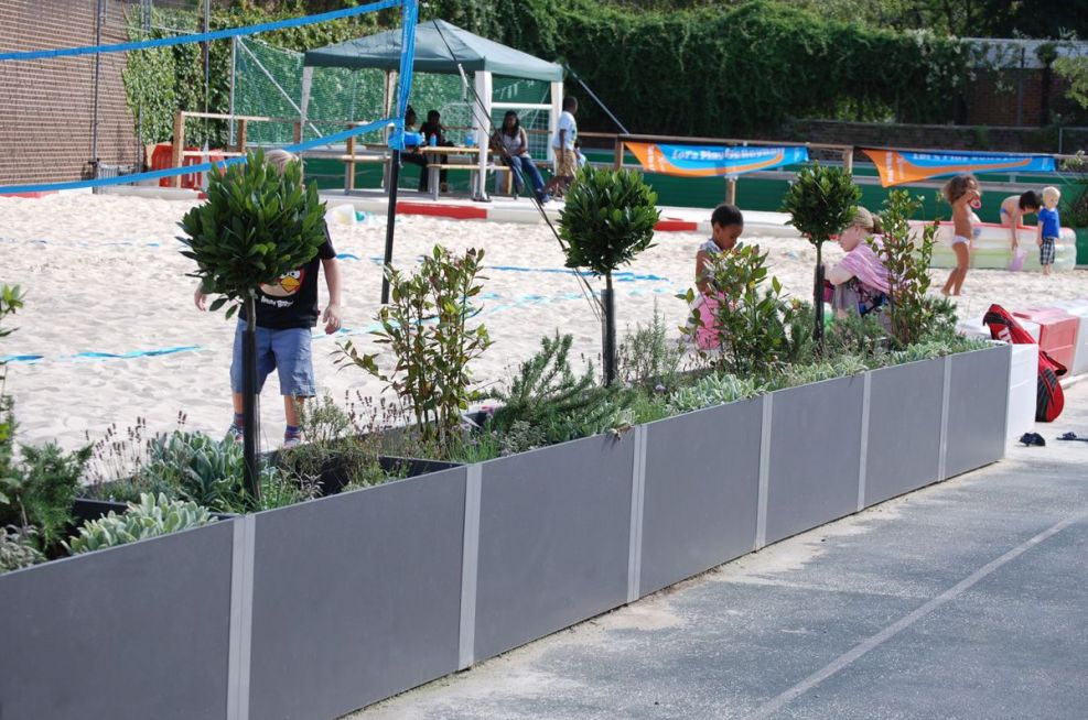 Beach Volleyball Court Steel Planters