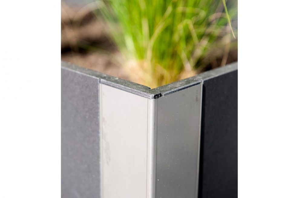 Stainless Steel Framing on FRC Planters