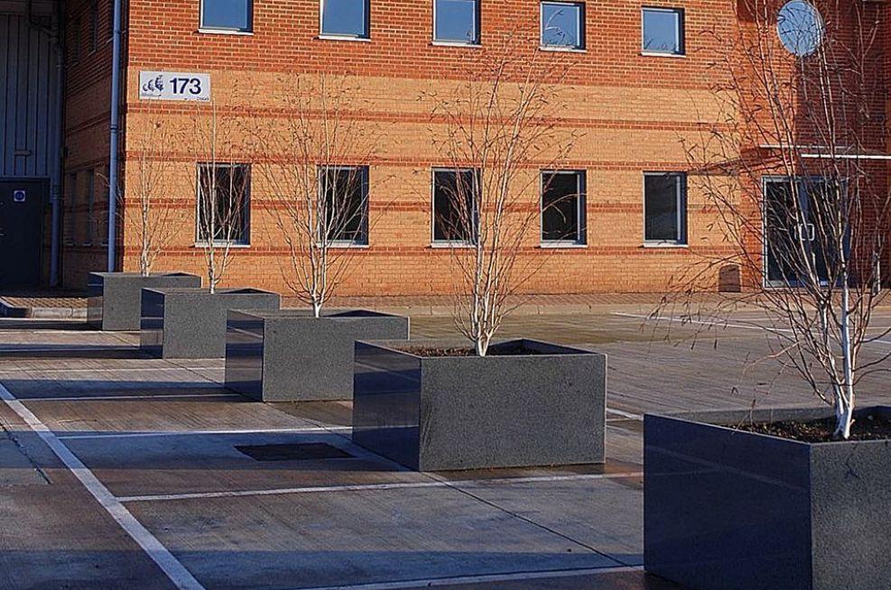 Custom Granite Planters At Milton Park