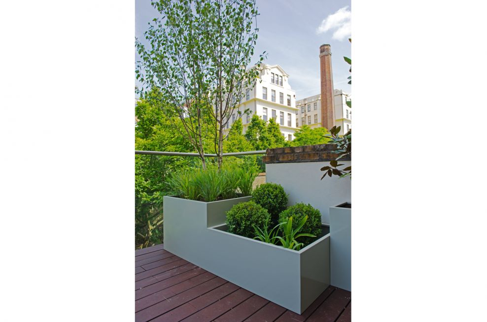 Bespoke Steel Planters with Stepped Effect