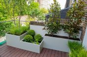 Custom Build Steel Planters at the Modular Garden, London N7