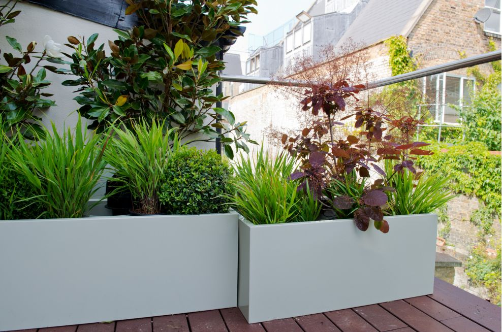 Powder Coated Planters for Small Residential Terrace