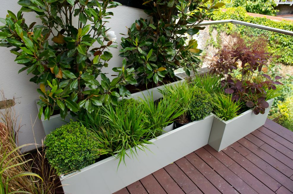 Steel Polyseter Powder Coated Planters