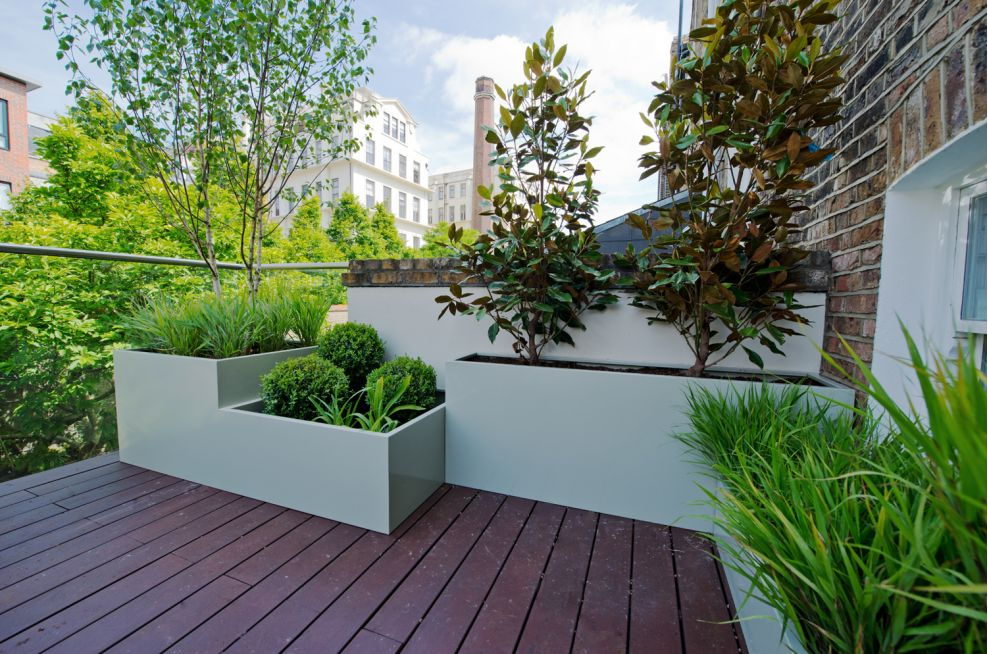 Stepped Bespoke Steel Planters