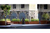 Corten steel public landscaping scheme