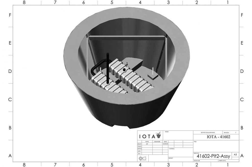 Tree planter with reservoir CAD